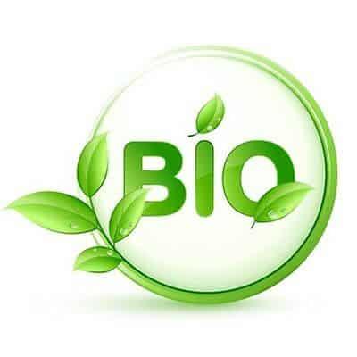Foto van een biologische cosmetica logo