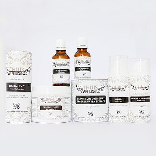 Op de foto staan alle producten die in het Totaalpakkeet gevorderden zitten.