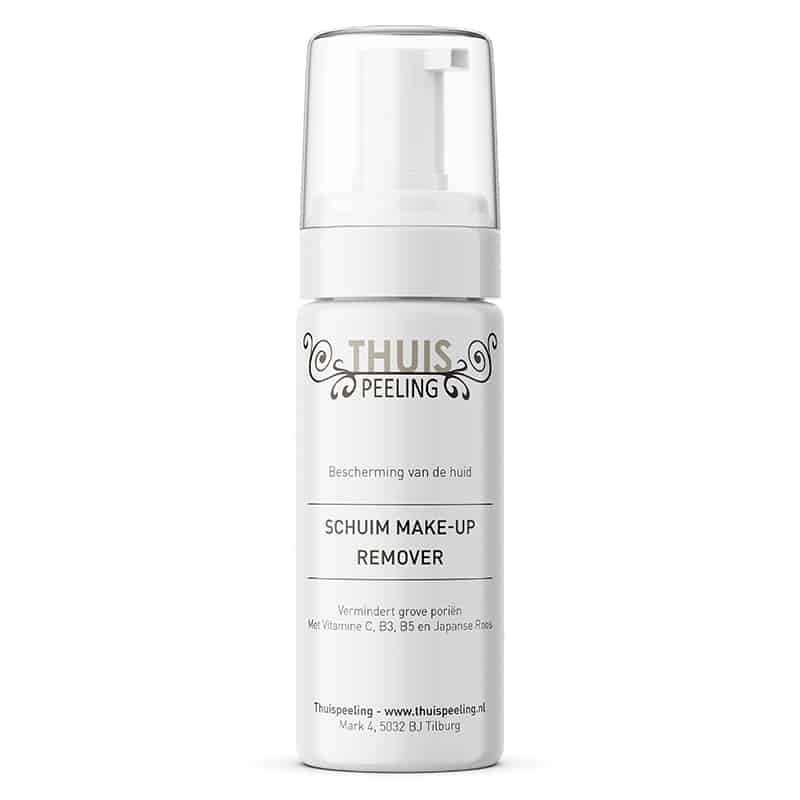 Schuim make-up remover, vermindert grove porien