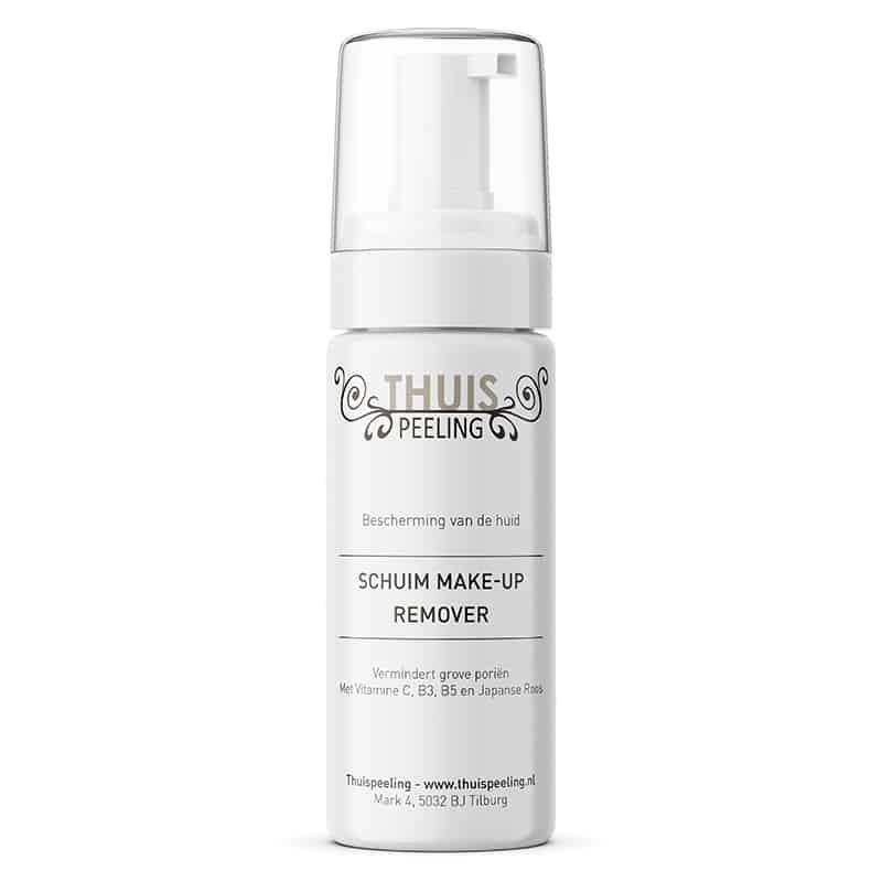 Schuim make-up remover, vermindert grove porien